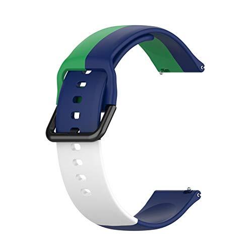 Jxfrice 2021 - Correa de repuesto para reloj, correa de silicona, compatible con Samsung, Huawei Amazfit Xiaomi Jiaming Fossil Ticwatch