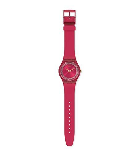 Swatch Orologio Quarzo con Cinturino in Silicone SUOP111
