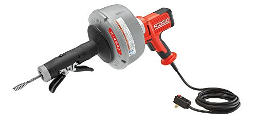 Ridgid 36003 K-45AF-5 Auto-Feed Drain Cleaning Machine with C-1IC 5/16 In. Inner Core Cable, C-6 3/8 In. Cable, Inner Drum, Tool Set, Carrying Case, 115V