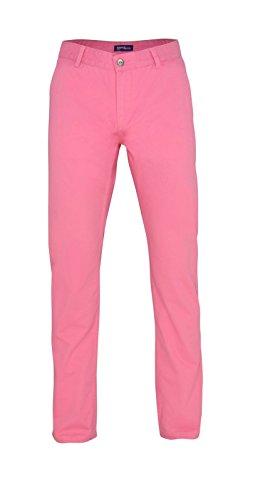 Asquith & Fox Herren Chino Hose in vielen Modefarben Sommerhose Herrenhose, Farbe:pink Carnation;Größen:36/32