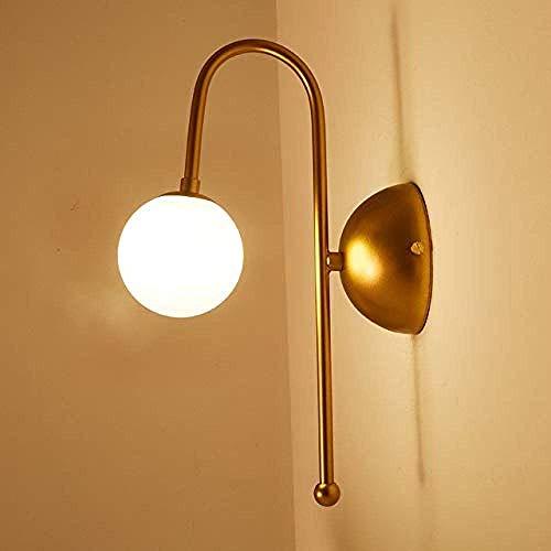 Meixian Wandlamp voor binnen, design, glas, led, moderne slaapkamer, keuken, trap, woonkamer, wandlamp, decoratie, thuis, verlichting, goudijzer, G4, 110-220 V, eenvoudig retro