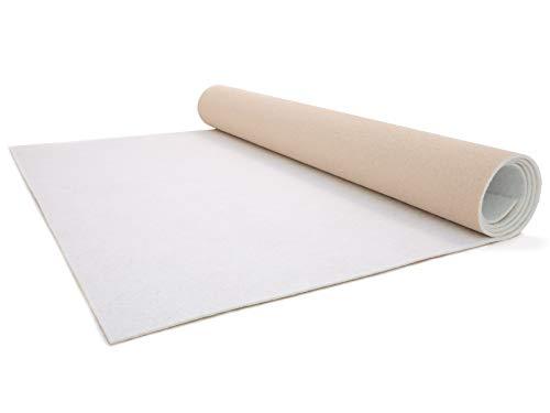 Hochzeitsteppich Hochzeitsläufer Gangläufer Messeteppich - 1,00m x 4,00m, Weiß, VIP Teppich, Eventteppich Schwer Entflammbar, Empfangsteppich