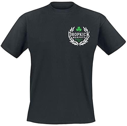 Dropkick Murphys Laurel Uomo T-Shirt Nero L 100% Cotone Regular