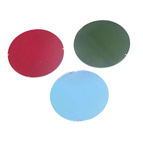 Electrovision - Filtre dichroïque 50mm pour projecteurs PAR 16 et jeux de lumière basse tension - Couleur: rouge