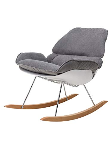 ZHyizi Solid Wood Lounge stoel met rugleuning moderne eenvoudige bureau schommelstoel voor thuis keuken woonkamer