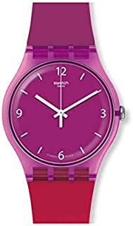 Swatch Unisex Adult Analogue Quartz Watch with Silicone Strap SUOV104