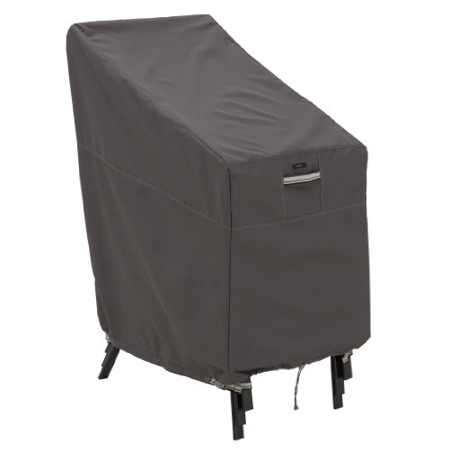 Classic Accessories Ravenna Water-Resistant 25.5 Inch Stackable Patio Chair Cover