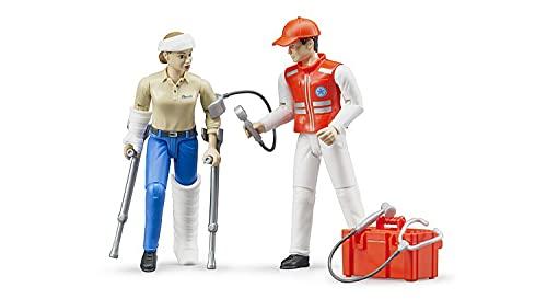Bruder 62710 - bworld Set Rettungsdienst, Sanitäter, Patient und Zubehör