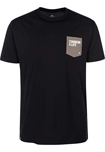 T-Shirt, Quote Pocket, Black, S