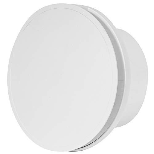 Ventilador de baño de 125 mm de diámetro con sensor de humedad y temporizador, color blanco con rodamiento de bolas, silencioso