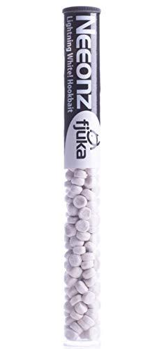 Fjuka NeeonZ hookbait lightening white - hookable fluoro soft pellets in a handy resealable tube.