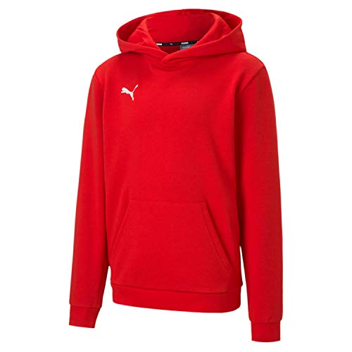 PUMA Jungen Pullover teamGOAL 23 Casuals Hoody Jr, Red, 128, 656711