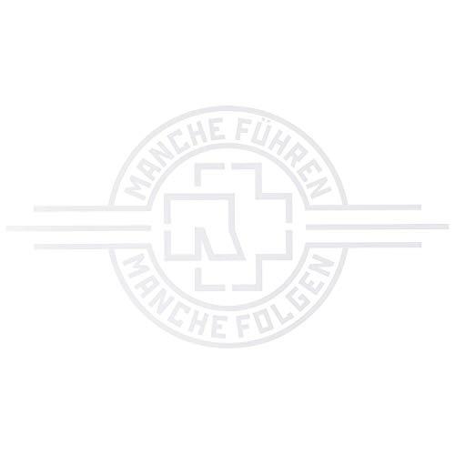 """Rammstein Auto Aufkleber Sticker """"Manche Führen Manche Folgen"""" weiß (aussenklebend) 69 x 38cm, Offizielles Band Merchandise Heckscheibe"""