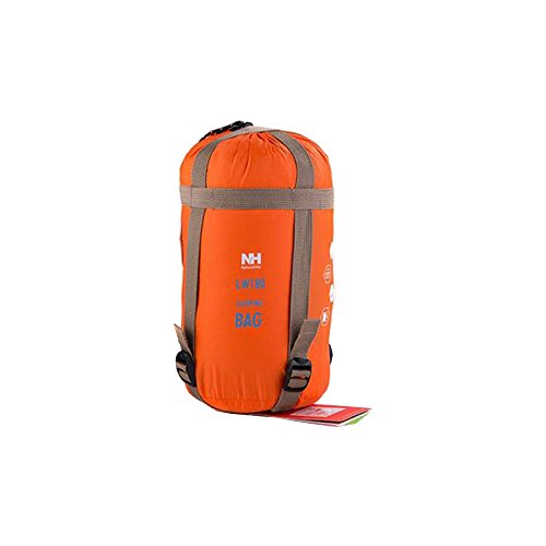 Naturehike Orange Sleeping Bag Ultralight Adult Portable Outdoor Camping Hiking Sleeping Bags Spring Autumn 1.90.75m