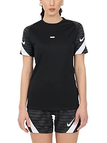Nike, Dri-Fit Strike, Kurz-Hülse Fußball Top, Schwarz/Anthrazit/Weiß/Weiß, L, Frau