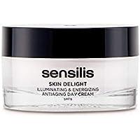 Sensilis Skin Delight - Crema de Día Antiedad Iluminadora y Energizante con SPF15, Vitamina C y Bayas de Goji - 50ml