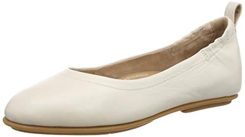 Fitflop Damen Allegro Ballerina - Leather Geschlossene Ballerinas, Weiß (Ss20 Jet Stream 031), 37 EU