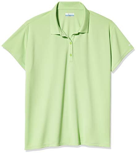 Columbia Women's Innisfree Short Sleeve Polo Shirt, Size 2X, Jade Lime