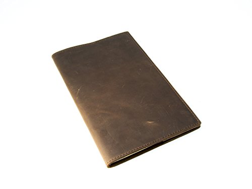 Moleskine Leather Journal Large 5 x 825 with Lined Pages Handcrafted Crazy Horse Leather Cover Vintage Writing Notebook for Men Women Travelers Business
