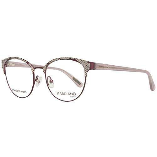 Guess By Marciano Brille Gm0317 082 50 Montature, Rosso (Burgunder), 50.0 Donna