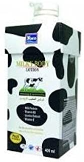 Yoko Milky Body Lotion with Milk Protein Plus Vitamin E, Vitamin B3, Licorice extract, Whitening and Moisturizing Skin Care Products 400ml. ( 14 Fl Oz. )