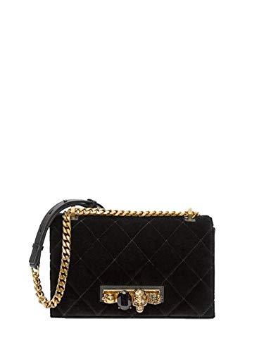 Alexander McQueen Luxury Fashion Donna 554128KR4AT1000 Nero Borsa A Spalla | Autunno Inverno 19
