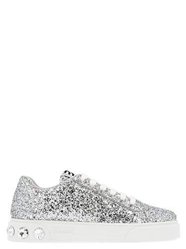 Miu Miu Luxury Fashion Damen 5E643CFD0053ADFF0118 Silber Leder Sneakers | Herbst Winter 19