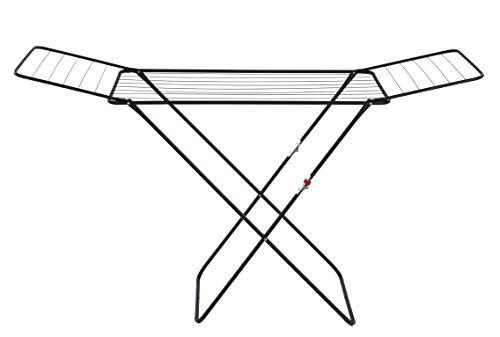 WENKO Wäschetrockner Champion - Flügelwäscheständer, 18 m Trockenlänge, pulverbeschichtetes Metall, 170 x 98 x 55 cm, Schwarz