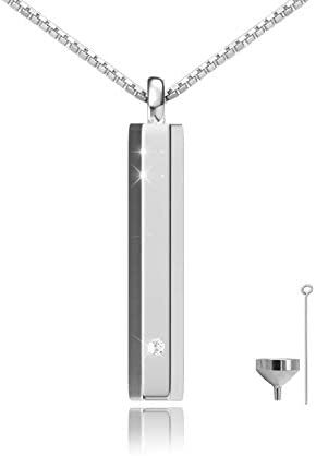 Urn Pendant Collection Cremation Jewelry for Ashes Keepsake Minimalist bar with Necklace Chain product image