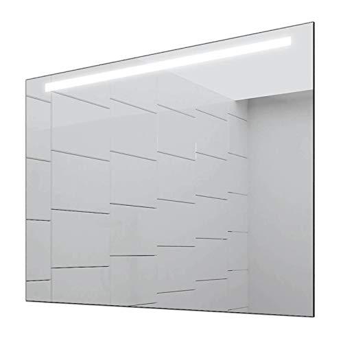 Concept2u® Badspiegel Enjoy Badezimmerspiegel mit 4.000K neutralweißer Beleuchtung 80 cm Breit x 60 cm Hoch Licht Oben
