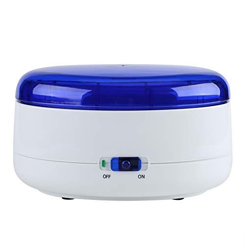 Haofy Limpiador de Joyas, Limpiador por vibración de Gafas, Funciona con Pilas, máquina de Limpieza para pulir Joyas, Relojes, anteojos, dentaduras postizas, Monedas o Piezas metálicas