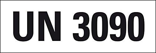 LEMAX® Gefahrgutaufkleber UN-Nummer 3091 Lithium-Metall-Batterien,147x50mm,250/Rolle