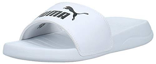 PUMA Herren Popcat 20 Zapatos de Playa y Piscina, Weiß White Black, 42 EU