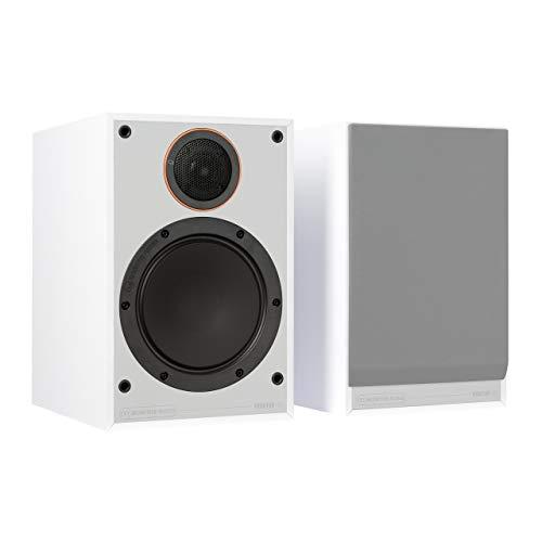 Monitor 100 - Altavoces para estantería, Color Blanco