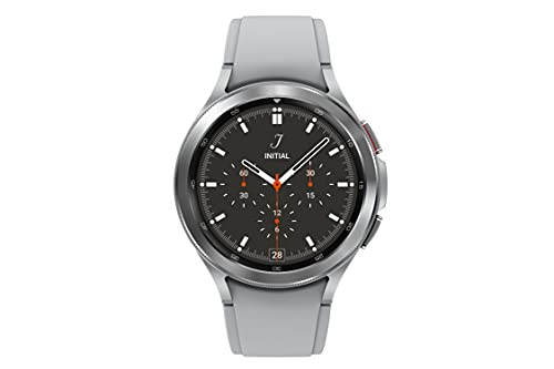 Samsung Galaxy Watch 4 Classic 46mm Smartwatch with ECG Monitor Tracker for Health Fitness Running Sleep Cycles GPS Fall Detection Bluetooth US Version, Silver
