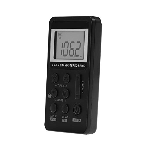 Multifunctional Retro Radio DAB, Transistor Portable FM Radio with Battery Operated, LCD Display and Earphone