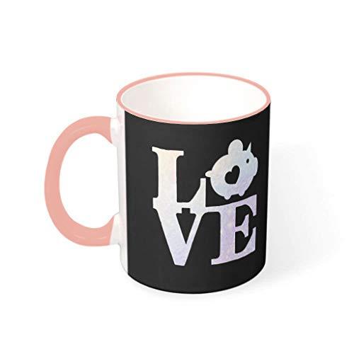Taza de café cerdo de primera clase de cerámica retro divertida – Taza de cerámica para mascotas para regalo de cumpleaños vcbe 330 ml