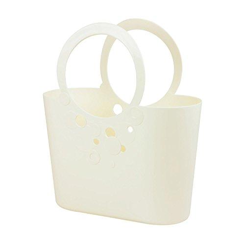 moderne Handtasche 14,8 L Picknickkorb creme Size XL Griffe Lily Strandtasche Tasche Basket