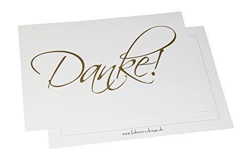 Dankeskarten - Danke - 10 Karten mit 10 Umschlägen - Danke sagen - Hochzeit, Geburt, Baby, Taufe, Geburtstag, Firmung