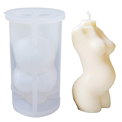 Kit de fabricación de moldes de vela corporal para adultos – Moldes de silicona para velas de soja caseras, para hacer velas de cera, también puede ser kit de resina (mujeres parientes)