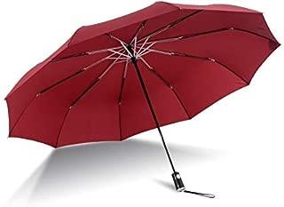 SHANGRUIYUAN-Umberllas Automatic Flding Reverse Umbrella Diameter 138cm Strengthen Rib Anti-Uv Dual-use Windproof Umbrella (Color : Red)
