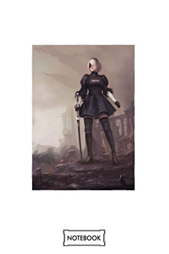 Cool Nier Automata 2b Game Play Station 4 (ps4) Notebook: Matte Finish Cover, Planner, Journal, Diary, 6x9 120 Pages, Lined College Ruled Paper
