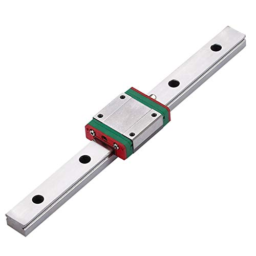 SANKUAI MGN15C 300 350 400 450 500 600mm Miniature Linear Rail Slide 1Cnc Linear Guide+1 Linear Bearing SS Carriage (Color : MGN15C, Size : 150)