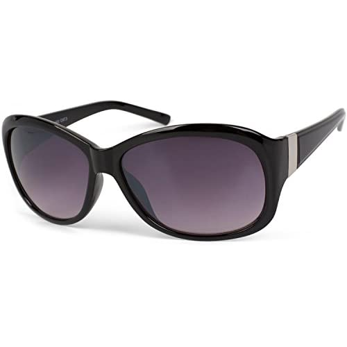 styleBREAKER Ladies oversize sunglasses in butterfly shape with metal decoration on temples, gradient lens 09020062