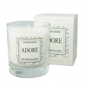 Adore Insect Repelling Indoor/Outdoor LAVENDER & BOG MYRTLE Candle Jar - Midge & Mosquito Repellent Candle - 30hr burn time