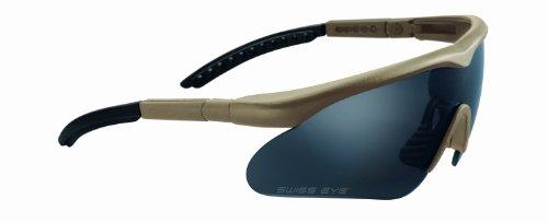 Mil-Tec Swiss Eye Sportbrille Raptor, Rubber Brown, 10162