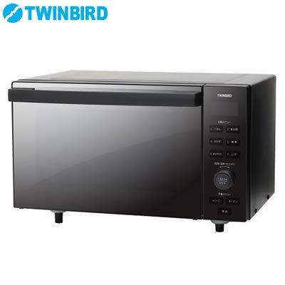 ツインバード オーブンレンジ 18L ブラックTWINBIRD センサー付フラットオーブンレンジ DR-E857B