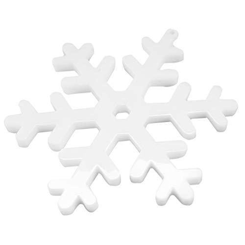HEALLILY Molde de Copo de Nieve de Silicona Molde de Resina Epoxi de Navidad Molde de Etiqueta de Copo de Nieve Colgante Molde de Fundición de Navidad para Hacer Velas de Jabón...