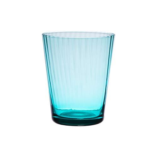 Table Passion - Verre venise bleu turquoise 37 cl (lot de 6)
