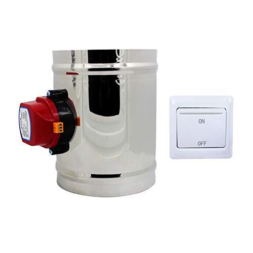1 Stück 220v HVAC absperrklappe elektrisch drosselklappe lüftung lüftungsklappe elektrisch Durchmesser 80 100 125 150 200 250 300 250 400 mm (Höhe 150mm + Außendurchmesser 100mm)